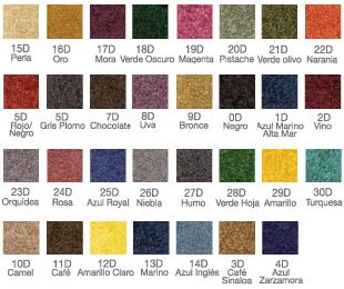 Colores para tapetes de entrada